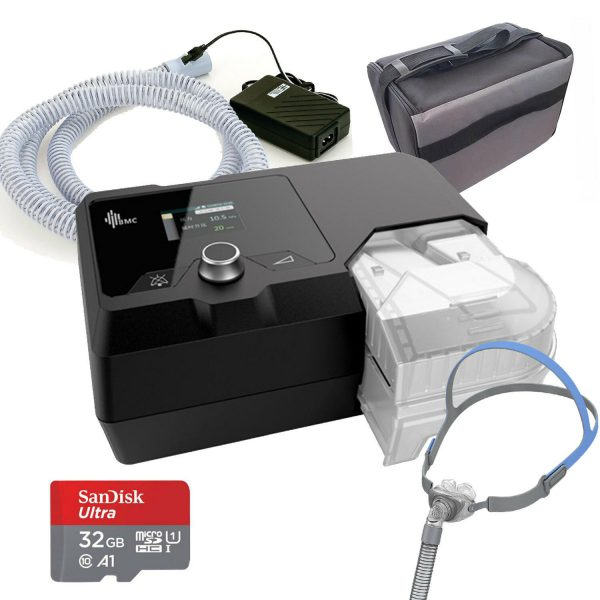 BMC Luna IQ Auto package With Heated Tube Humidifier and CPAP Mask