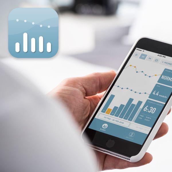 Fisher Paykel SleepStyle App in phone
