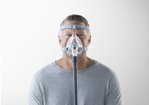 Man with Vitera CPAP Mask front on